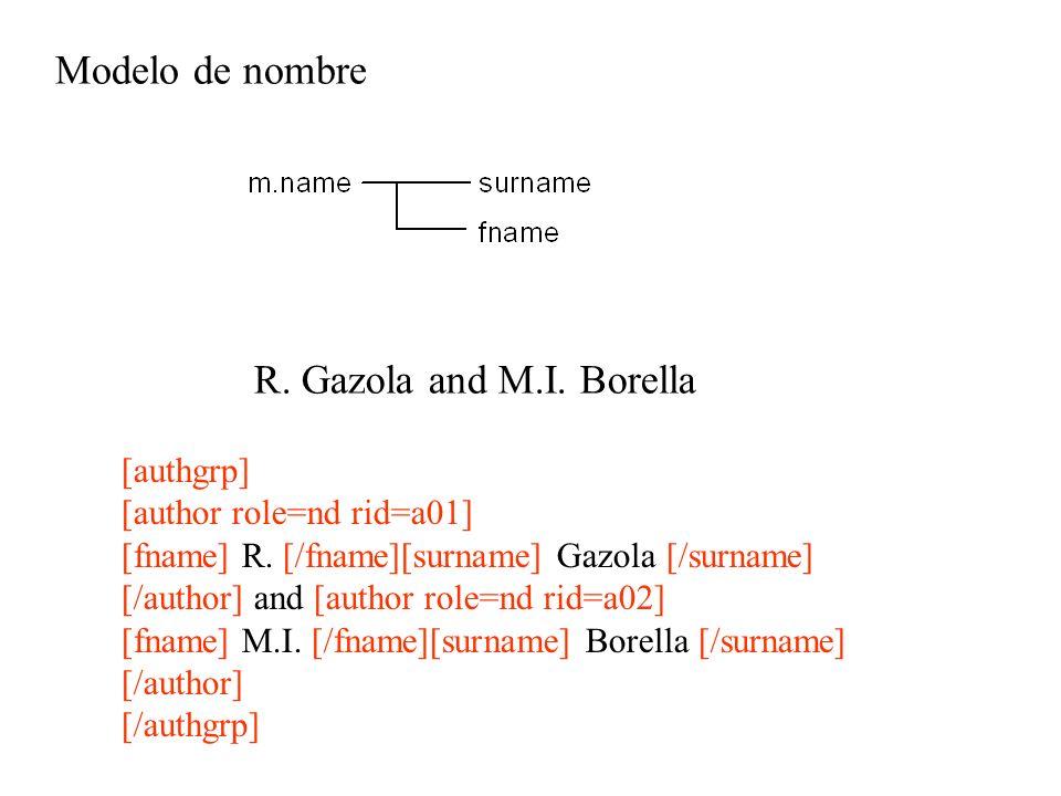 Modelo de nombre R. Gazola and M.I. Borella [authgrp]